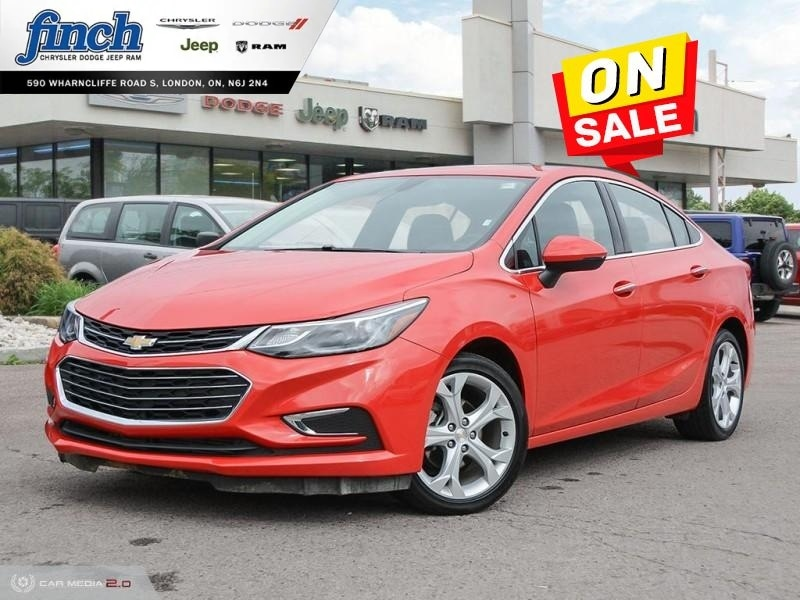 Featured Used 2018 Chevrolet Cruze Premier - Leather Seats - $126 B/W Sedan for sale near you in London, ON