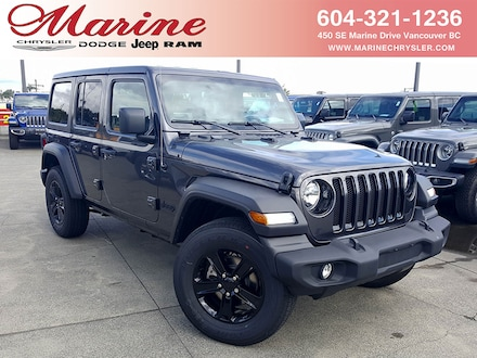 Featured new 2019 Jeep Wrangler Unlimited Unlimited Sport S SUV for sale in Vancouver, BC