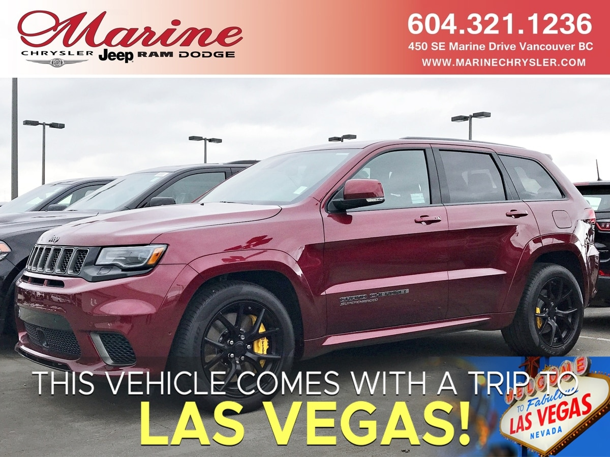Featured new 2018 Jeep Grand Cherokee Trackhawk SUV for sale in Vancouver, BC