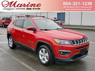 2018 Jeep Compass North 4x4 with Nav and Safety Group SUV 55K7521A