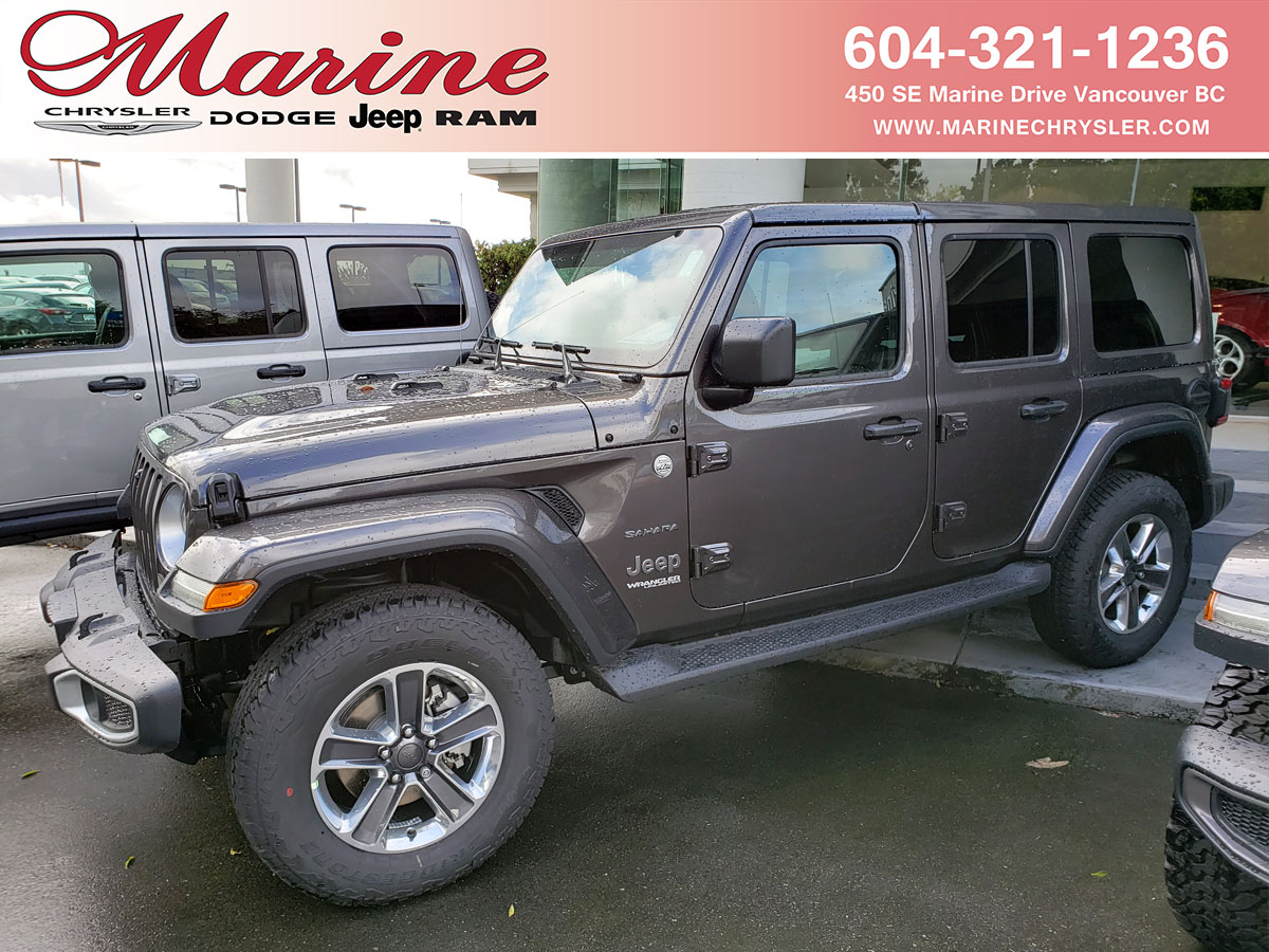 New 2021 New Jeep Wrangler Unlimited For Sale Lease Vancouver Bc Stock 68m7543 1c4hjxeg0mw517543
