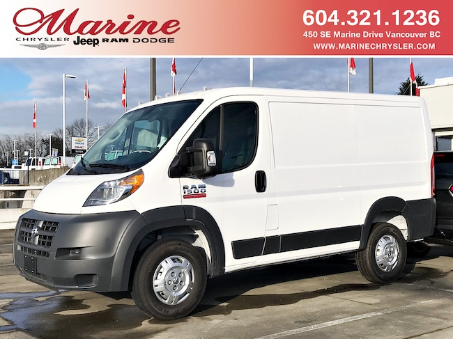 New 2018 Ram ProMaster 1500 Low Roof 118 in. WB Van Cargo Van For Sale/Lease Vancouver, BC