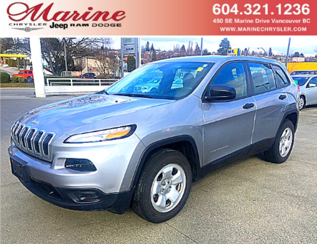 Used 2015 Jeep Cherokee Sport 4X4 with only 18,700kms SUV 68H4192A For Sale Vancouver, BC