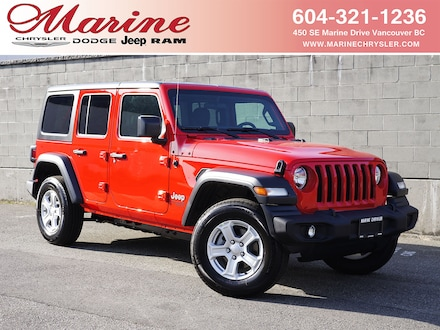 Featured new 2020 Jeep Wrangler Unlimited Sport S SUV for sale in Vancouver, BC