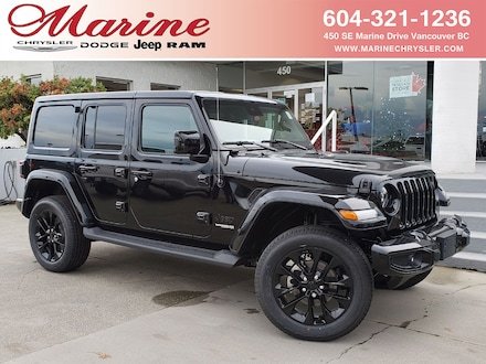 Featured new 2021 Jeep Wrangler Unlimited Sahara High Altitude 4x4 for sale in Vancouver, BC