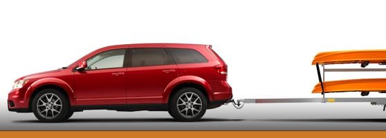2015 Red Dodge Journey Towing