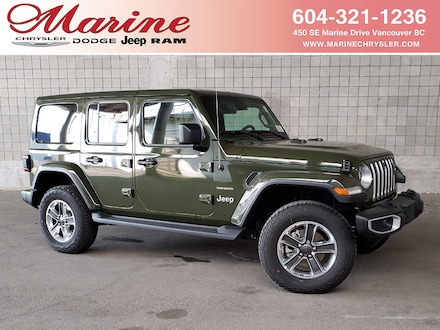 Featured new 2021 Jeep Wrangler Unlimited Sahara 4x4 for sale in Vancouver, BC