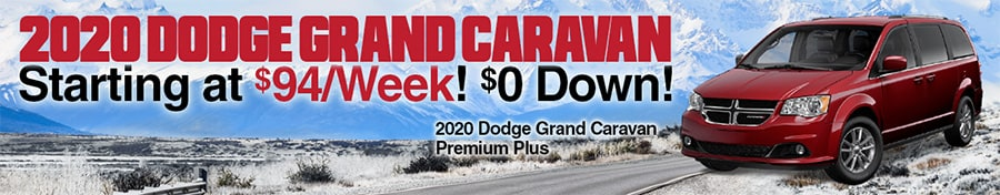 2020 Grand Caravans from $94 per Week! $0 Down!