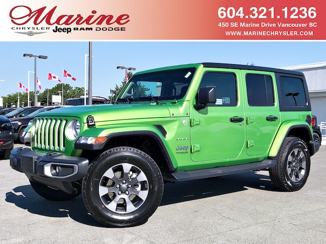 New 2018 Jeep Wrangler Unlimited Sahara SUV For Sale/Lease Vancouver, BC