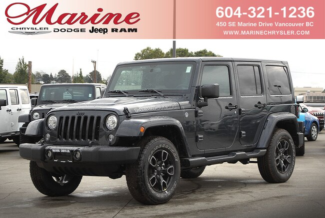 New 2017 Jeep Wrangler Unlimited Smoky Mountain SUV For Sale/Lease Vancouver, BC