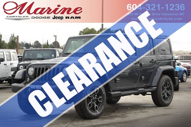 New 2017 Jeep Wrangler Unlimited Smoky Mountain - $4,000 OFF! SUV For Sale/Lease Vancouver, BC