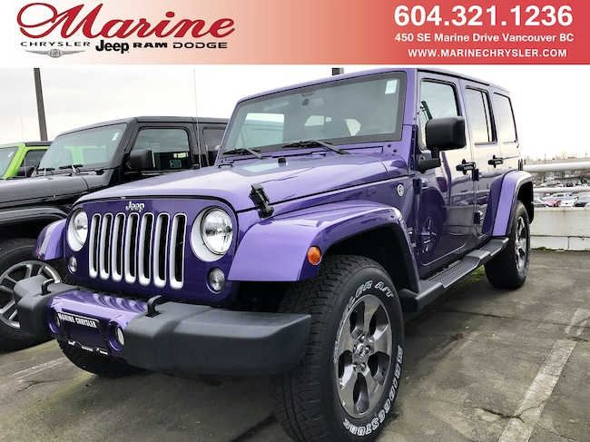 New 2018 Jeep Wrangler JK Unlimited Sahara SUV For Sale/Lease Vancouver, BC