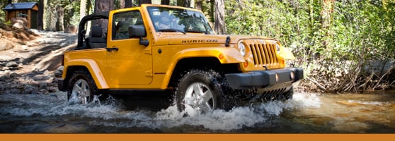 Yellow Outdoor Jeep Wrangler