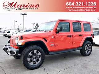 New 2018 Jeep All-New Wrangler Unlimited Sahara SUV 68J5854 for sale in Vancouver, BC
