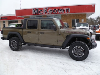 2020 Jeep Gladiator Rubicon DAUL TOP GROUP-TRAILER TOW GROUP-SAFETY GROUP-TONNEAU COVER-REMOTE START- HEATED LEATHER SEATS Truck Crew Cab