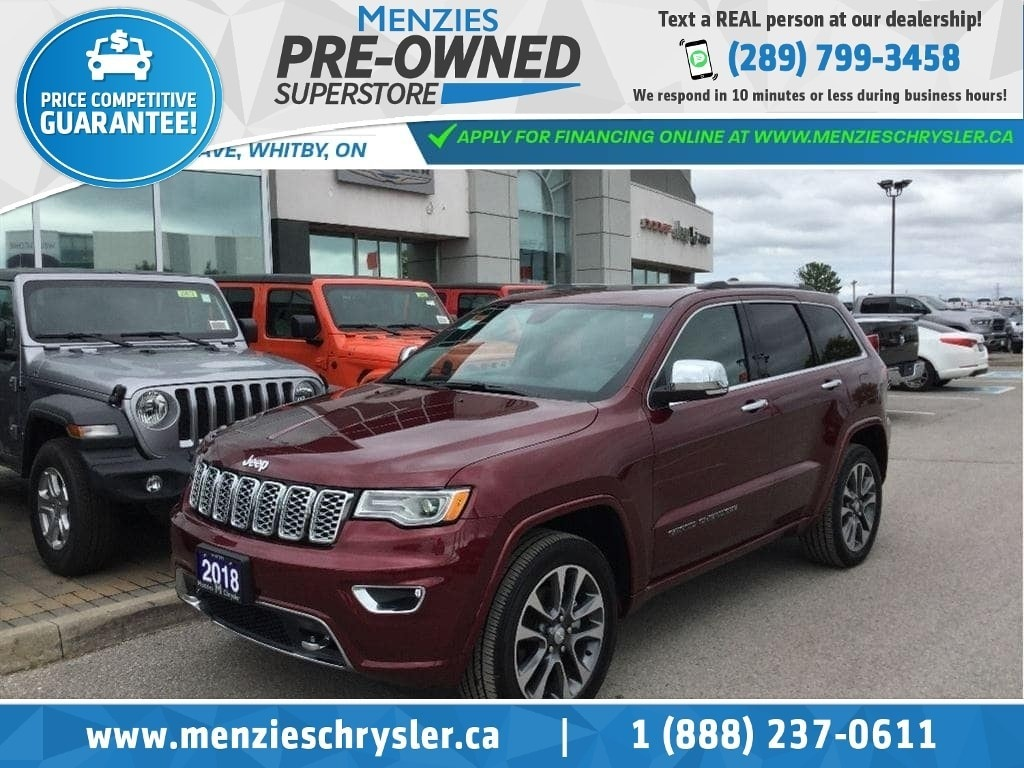 2018 Jeep Grand Cherokee Overland, Pano Roof, ONE Owner, Clean Carproof SUV