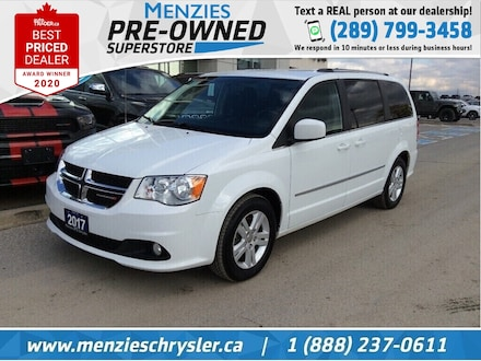 2017 Dodge Grand Caravan Crew, Rear Air/Cond, 3rd Row STO, Clean Carfax Van