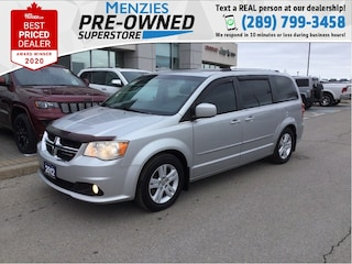 2012 Dodge Grand Caravan Crew, DVD, Cam, Power Doors, Clean Carfax