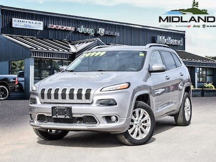 2017 Jeep Cherokee 2017 Jeep Cherokee Overland 4X4-GPS-Remote Start SUV for sale in Midland, ON