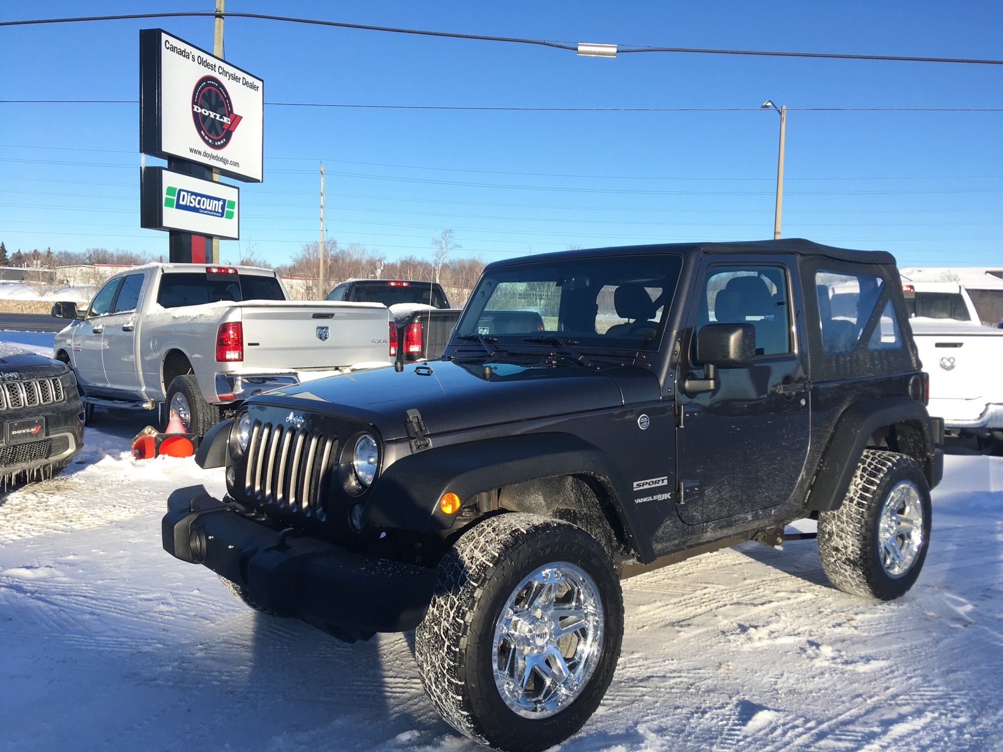 2018 Jeep Wrangler SPORT 4WD 1-OWNER TRADE-IN!! SUV