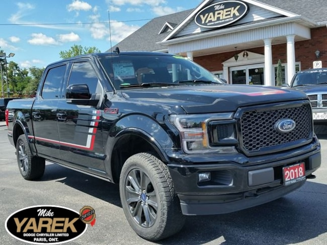 2018 Ford F-150 Lariat Sport 4x4, Leather Heated/Cooled Seats, NAV Crew Cab