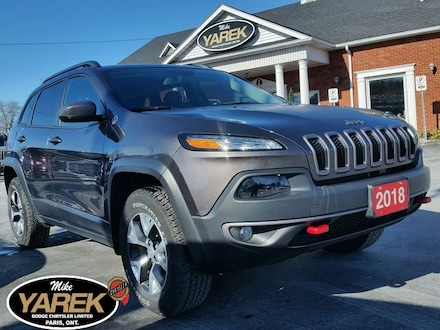 2018 Jeep Cherokee Trailhawk V6 L Plus 4x4, Leather Heated/Vented Sea Crossover