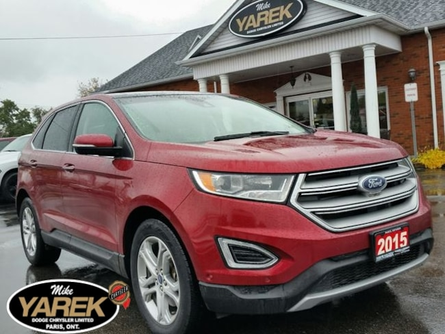2015 Ford Edge Titanium AWD, Pano Roof, Heated/Cooled Seats, NAV, Crossover