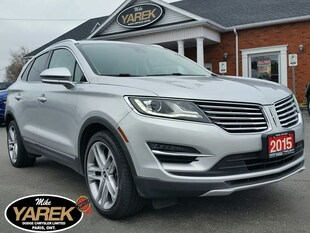2015 Lincoln MKC AWD Ecoboost, Leather Heated/Cooled Seats, NAV, Pa Crossover