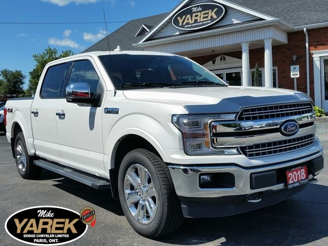 2018 Ford F-150 Lariat 4x4, Leather Heated/Cooled Seats, NAV, Pano Crew Cab