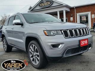 2018 Jeep Grand Cherokee Limited 4x4, Heated Seats, NAV, Sunroof, Tech Pkg, Crossover