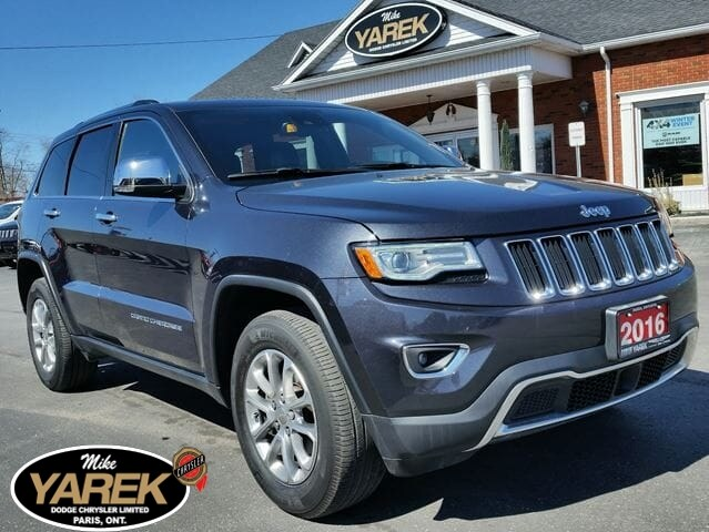 2016 Jeep Grand Cherokee Limited 4x4, Heated/Vented Leather Seats, NAV, Tec Crossover