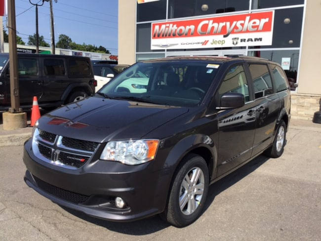 2019 Dodge Grand Caravan CREW PLUS / LEATHER / NAV /DVD /BLIND SPOT MONOTOR Van