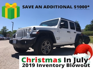 2019 Jeep Wrangler Unlimited Sport | Demo | Dual Top | Heated Seats | SUV