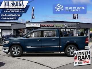 2021 Ram 1500 Limited - Leather Seats -  Cooled Seats 4x4 Crew Cab 144.5 in. WB for sale in Bracebridge, ON