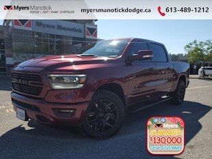 2020 Ram 1500 Sport -  Android Auto -  Apple Carplay - $362 B/W Crew Cab