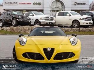 2016 Alfa Romeo 4C Spider Carbon Fibre PKG   Targa TOP   LOW KMS ! Convertible