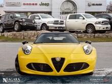 2016 Alfa Romeo 4C Spider Carbon Fibre PKG   Targa TOP   LOW KMS ! Décapotable ou cabriolet