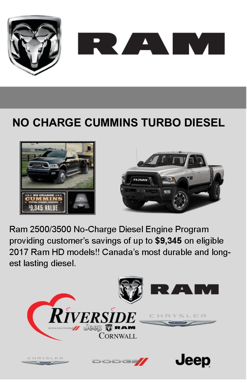 Good No Charge Cummins Diesel Offer