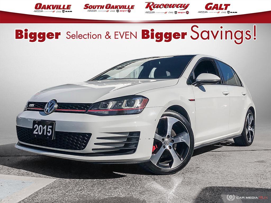 2015 Volkswagen Golf GTI 5-Door Autobahn   SUNROOF   NAV   HEATED SEATS   Hatchback