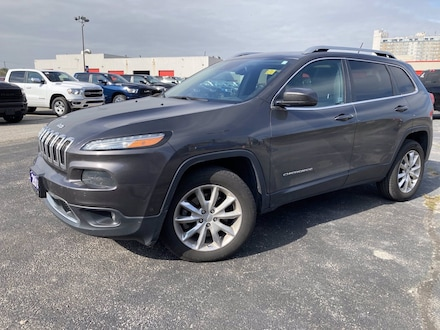2014 Jeep Cherokee LIMITED**4X4**LEATHER**8.4 TOUCSHCREEN**NAV**SUNRO 4WD  Limited