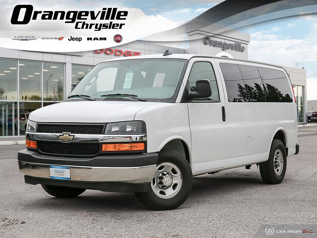 2018 Chevrolet Express 2500 LT, 12-Pass, Rear CAM, Rear Heat & A/C, Clean! Van Passenger Van