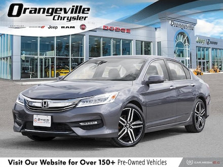 2016 Honda Accord Touring, V6, NAV, Roof, HTD Lthr, Remote Start! Sedan