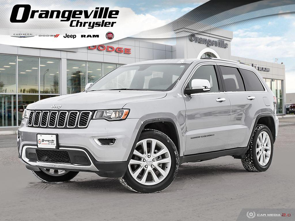 2017 Jeep Grand Cherokee Limited, V6, 4X4, Roof, HTD Leather, PWR Gate! SUV