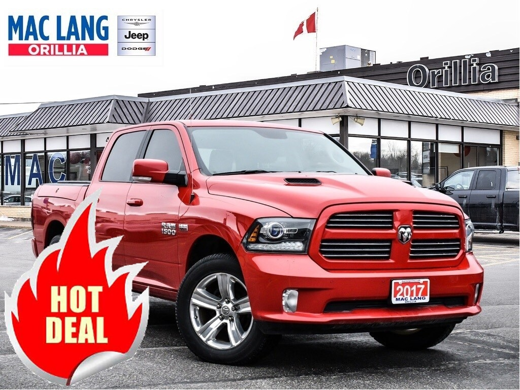 2017 Ram 1500 Sport Corner AIR, Rambox, Vent Leather & More! Crew Cab