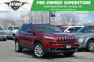 2016 Jeep Cherokee Limited - One Owner, gold plan extended warranty SUV