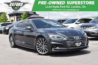 2018 Audi A5 Low KMs, Fully Equipped, AWD, GPS, Sunroof SUV
