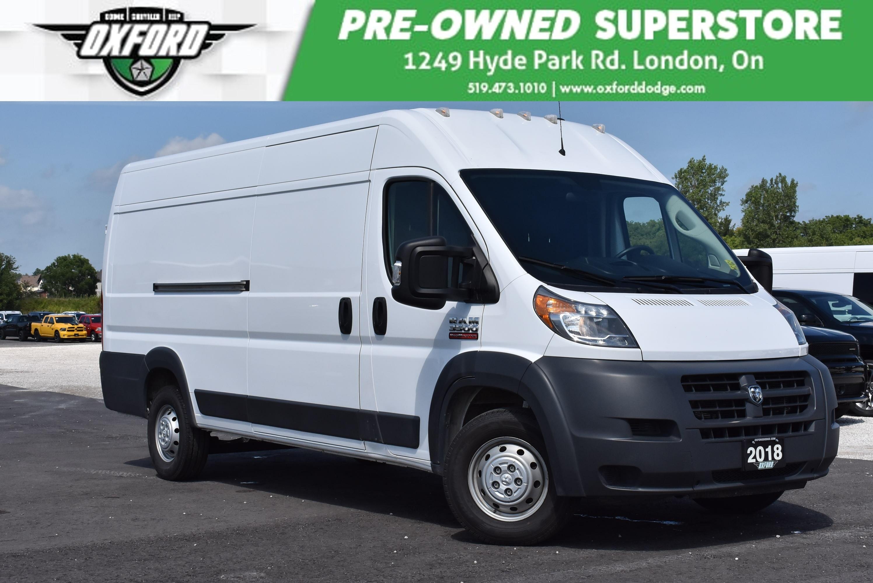 2018 Ram ProMaster 3500 High Roof - Former Rental, 3.6L V6 Van Extended Cargo Van