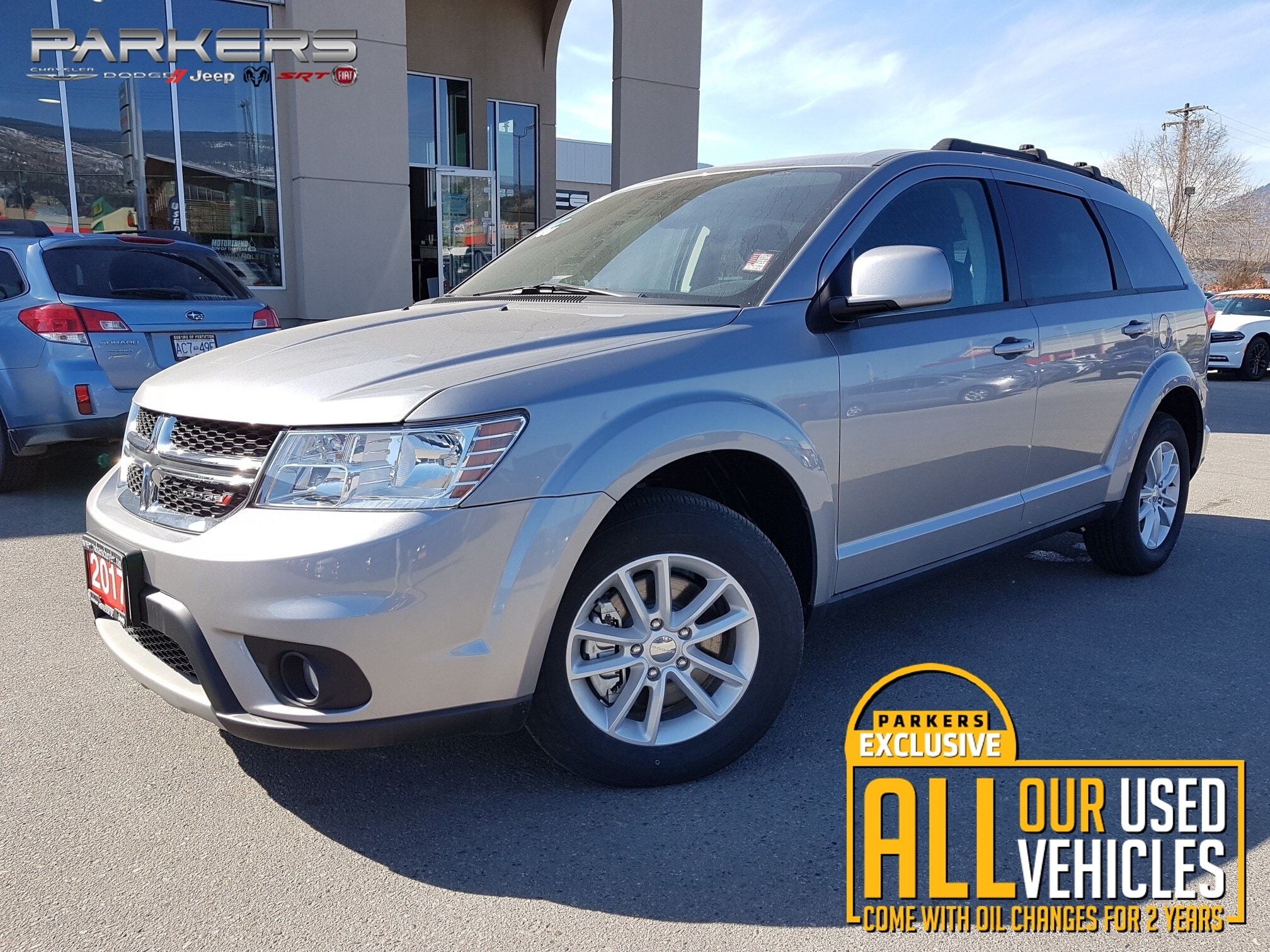 Used 2017 Dodge Journey SXT - V6 - Bluetooth SUV for sale in Penticton, BC