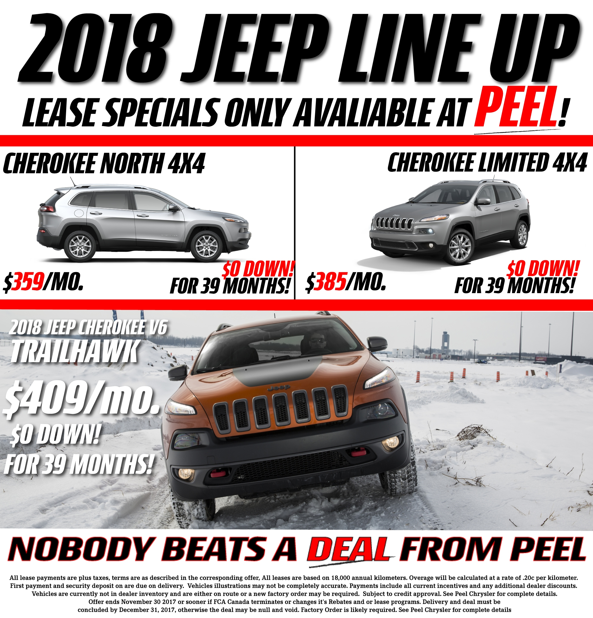 Toyota Employee Lease Program: Jeep Cherokee Lease Specials