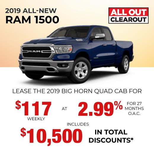 2019 RAM Special Offer